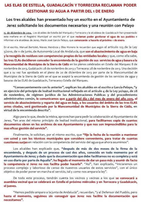 NOTA DE LAS PEDANIAS - 15-12-2014.-